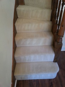 Stair Carpet cleaned in Milton Keynes