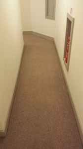 The same corridor after cleaning